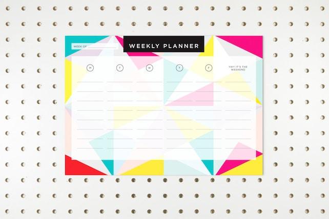 Geometric Weekly Planner PRINTABLE