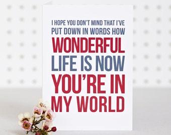 In My World - Valentines Anniversary Card