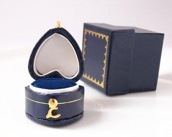 Black Ring Box Small traditional style heirloom ring box Antique Style Ring Box Vintage style ring box Single ring box