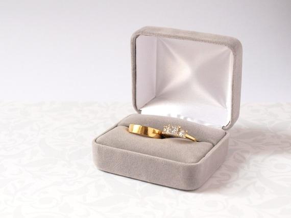 Wedding Box Ring Packaging Velvet Box Travel Case Ring Box for Wedding Hexagon Ring Case