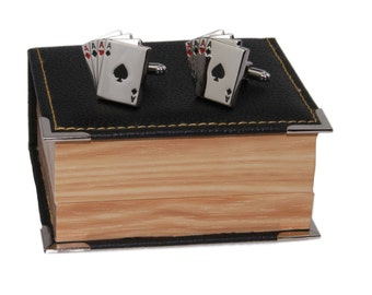 Men's Playing Cards Cufflinks and Gift Box