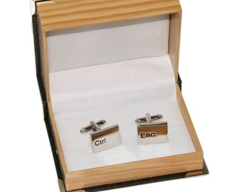 Men's CTRL. ESC. Cufflinks and Gift Box - Novelty Cufflinks