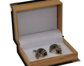 Men's Stack Of Cards Cufflinks and Gift Box - Playing Cards Novelty Formal Accessory