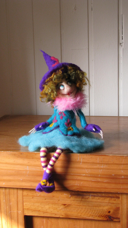 Küche Hexe Art Puppe-Halloween-Hexe Nadel gefilzt gefilzte | Etsy