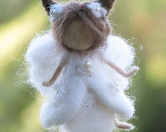 Christmas Fairy Ornament Needle felted Ornament Waldorf inspired fairy Home decor