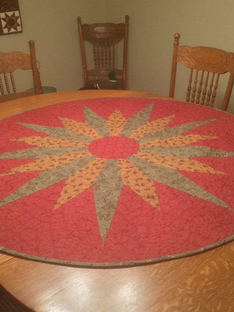 A Large Circular Table Topper
