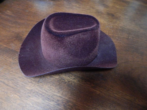 15 Brown velvet covered Cowboy hat for doll making  3fcaa900a7e