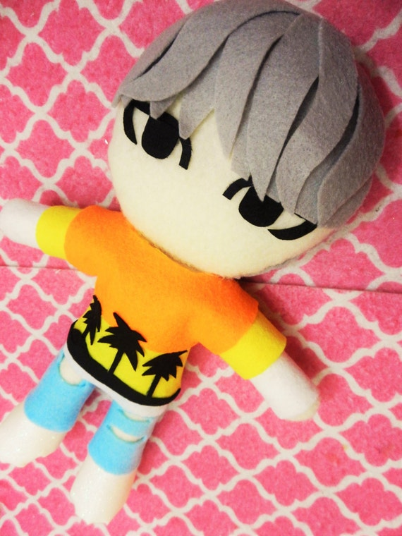 Kpop Bts Suga Inspired Plushie Plush Toy Doll Fire Mv Version