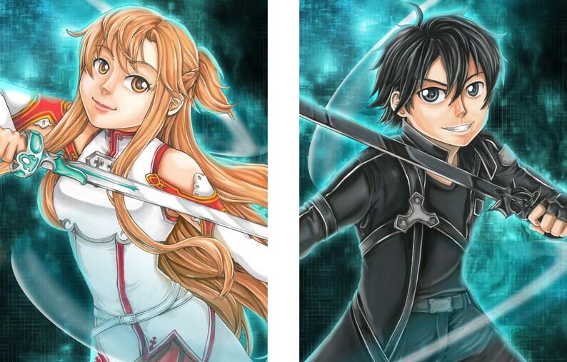 Sword Art Online - Asuna and Kirito - Set of Two Posters