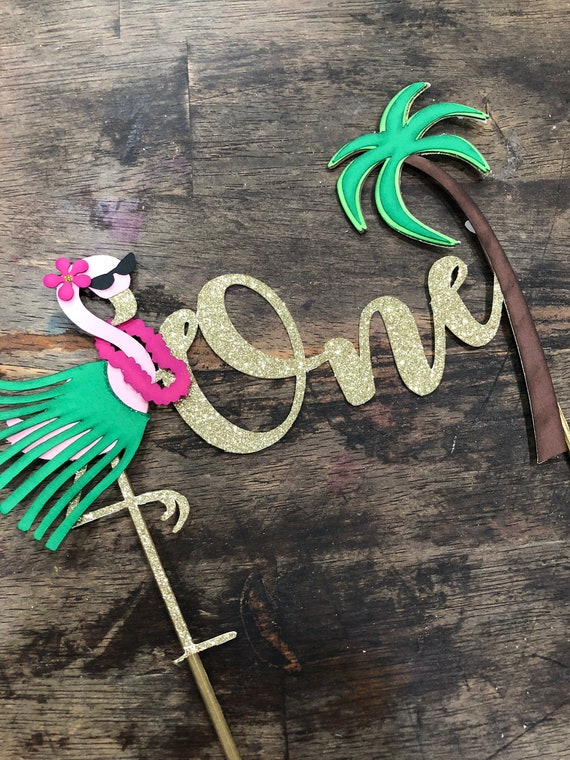 Aloha Cake Topper Luau Birthday One First