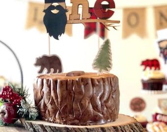 Lumberjack Cake Topper. First Birthday Lumberjack Birthday