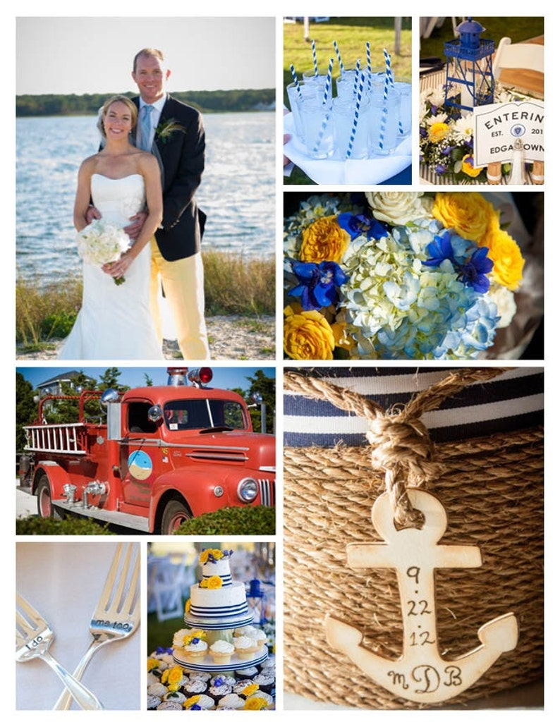 wedding card holder beach or nautical theme event  etsy