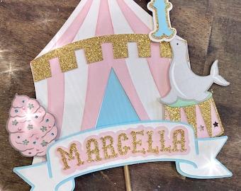 Circus theme Cake topper
