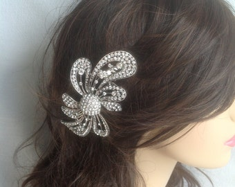 Bridal Hair Brooch. Hair Comb - Glamour Couture Line