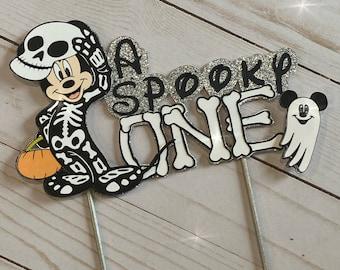 Mickey Halloween Cake Topper. One cake topper. One Halloween cake topper.