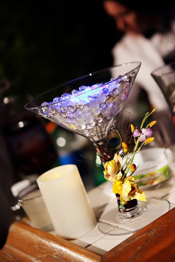 Table centerpiece decoration exquisite martini glass etsy