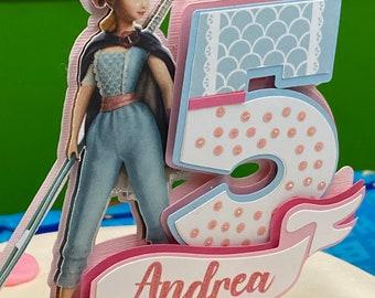 Bo Peep inspired cake topper. Toy Story cake topper.