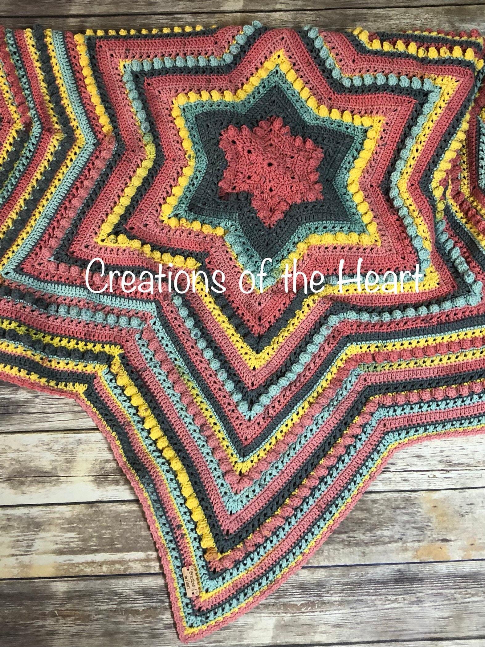 Crochet Baby Blanket Blanket Star Afghan Cake Yarn Blanket Etsy