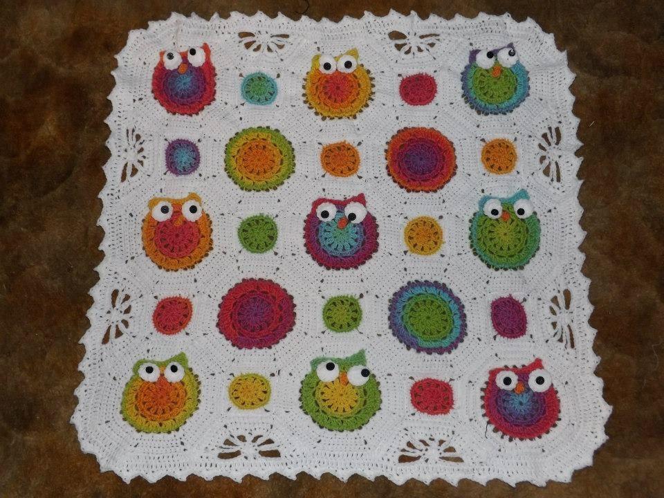 Owl Obsession Crochet Owl Blanket Owl Baby Blanket Etsy