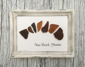 Sea Glass Wall Art Fish Bone Beach Glass Home Decor Vero Beach Florida