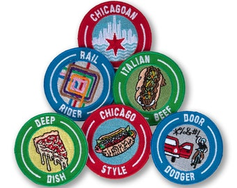 CHICAGO Iron On Printed Patch Illinois City