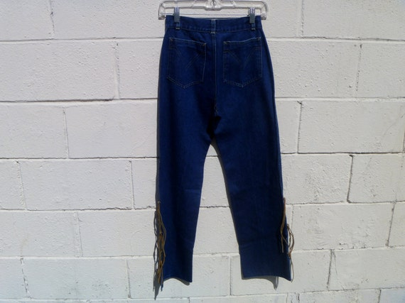 Suede Leather Fringe 1970's Frederick's of Hollywo