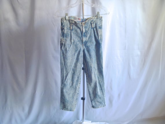 Vintage 80's Pee Wee™ Herman Jeans Official Brand Acid Washed Overalls Kids' Size Medium