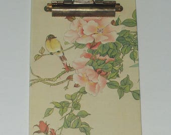 Vintage 1980 Small Decorative Floral Clipboard Stylecraft Of Baltimore 1217