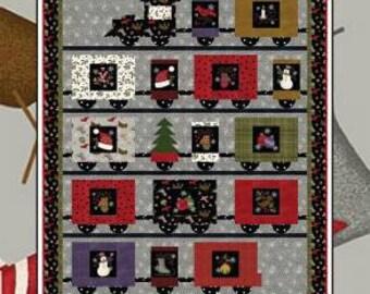 Next Stop North Pole / Christmas Train / Lap Quilt Pattern / Coach House Designs / Panel