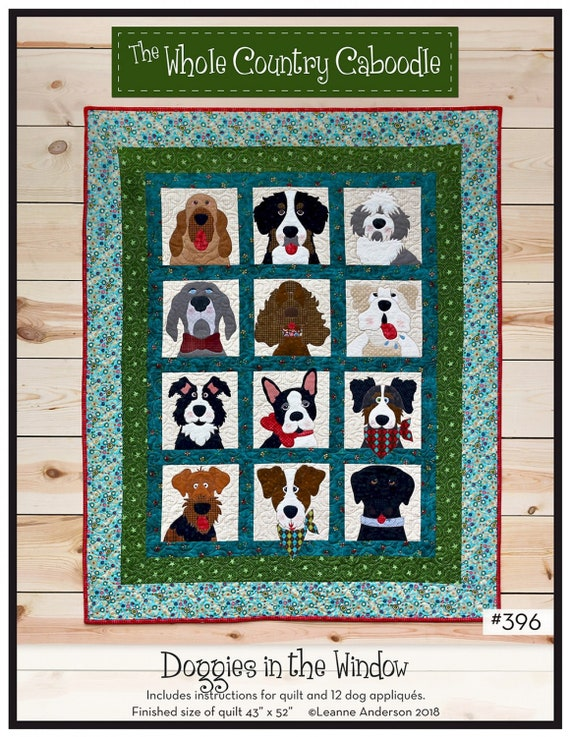 From The Whole Country Caboodle NEW WRAPPED IN WINTER APPLIQUE QUILT PATTERN