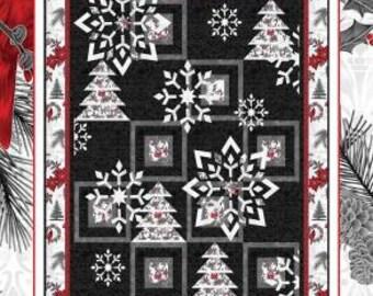 While We Sleep / Snowflakes / Lap Quilt Pattern / Coach House Designs / Applique