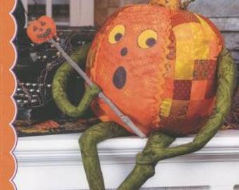 Crabapple Hill Studio / Pumpkin Sprite / Halloween / Pumpkin Doll / Stuffed Pumpkin / Jack o'Lantern / Stuffie / Toy / Decor