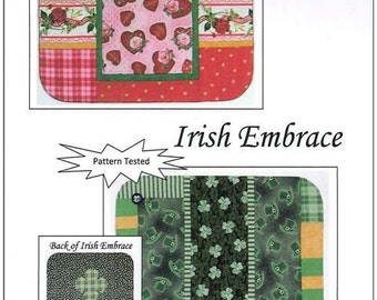 Valentine / Irish Embrace Placemat Patterns Quilted Button St Patrick's Day Valentine's Tablescaping Dining Table