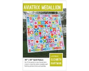 Elizabeth Hartman Aviatrix Medallian Quilt Pattern Foxes Fox Faces Instructions