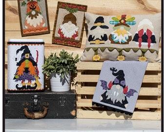 Autumn Gnomes / Whole Country Caboodle/ Pilgrim Gnomes / Turkey / Witch / Dracula Gnome / Acorn Gnome / Jack-O-Lantern / Sewing Pattern