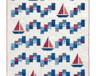 Sailing School / Quilt Pattern / Canuck Quilter Designs / Joanne Kerton / Sailboats / Boating / Ocean / Sewing Pattern / Strip Piecing