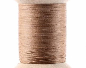 Light Brown / Egyptian Cotton / Hand or Machine / Quilting Thread / YLI / Glazed / Wooden Spool / Long Staple / 500 Yards / Brown