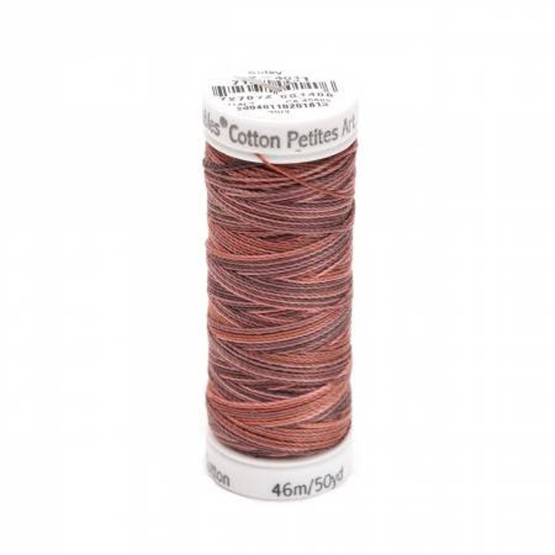 Milk Chocolate  Blendables Cotton Thread  2-ply  12wt  50yds  Sulky of America  Egyptian Cotton  Multicolor Sewing Thread