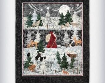 Said the Night Wind Complete Set / Quilt Pattern / Ryan McKenna /  Pine Needles / Santa / Christmas / Forest / Applique Patterns /