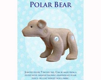 Polar Bear /  Stuffie Pattern / Jointed Bear / Stuffed Animal / Stuffed Bear / Rebecca Anderson /