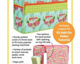 Under Cover / Sewing Machine Cover Pattern / By Annie /  Sewing Pattern / 3 Sizes