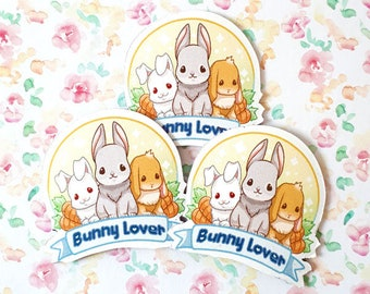 Bunny lovers magnet