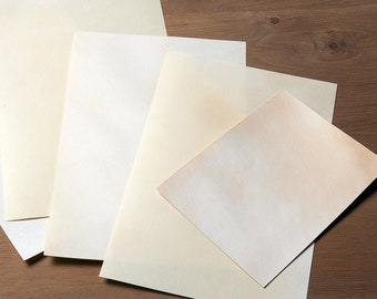 Natural goatskin parchment - Real Parchment - Parchment for calligraphy, painting, bookbinding, panels and more