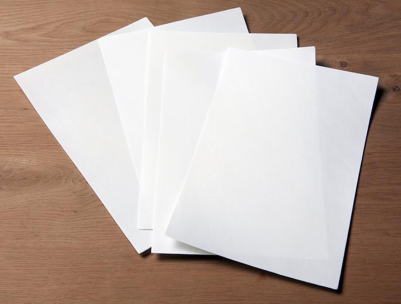 White goatskin parchment  Vellum  Real parchment  Goatskin image 0