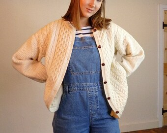 f891770bf023 Cable knit cardigan