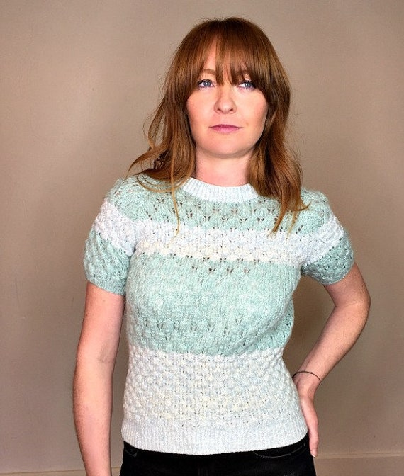 50s vintage Seafoam Green Knitted Sweater