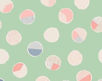 polka dot crib sheet, round crib sheet, spring sheet, easter crib sheet