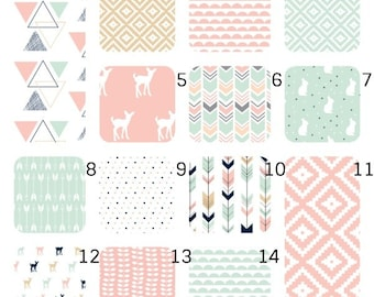 MINKY Patterned Baby Sheets, Toddler Baby Nest, Baby Snuggle Nest, Baby Nest Bed, MINKY floral crib sheet, Baby Nest, peony crib sheet