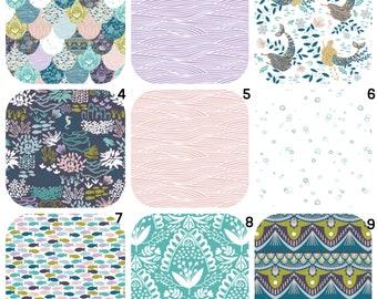 Mermaid Crib Sheet, Girl Baby Bedding Crib Set, Blue Baby Bedding, Baby Girl Bedding, Baby Bedding Crib Sets, Girl Baby Bedding Bumper