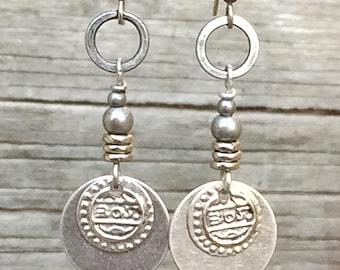 Silver Boho Earrings, Boho Earrings Dangle, Bohemian Jewelry Earrings, Bohemian Silver Earrings, Ethnic Jewelry Earrings, Gypsy Earrings